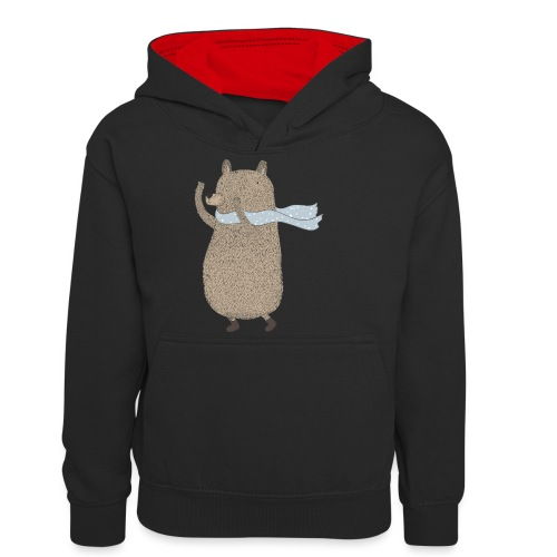 Fluffy Cuddle Bear by #OneCreativeArts - Teenager Kontrast-Hoodie