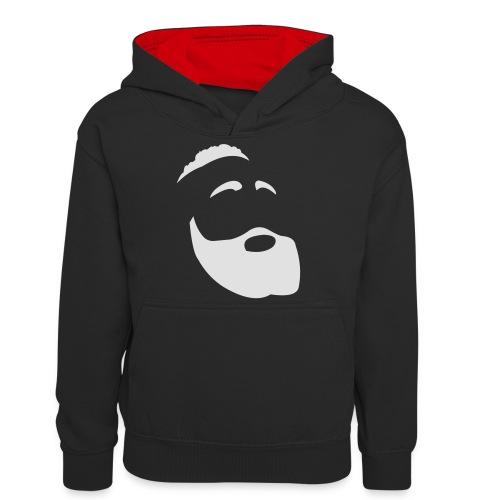 The Beard - Felpa con cappuccio in contrasto cromatico per ragazzi