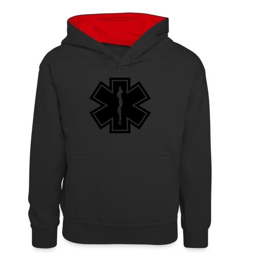 paramedic2 eps - Teenager Kontrast-Hoodie