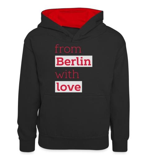 From Berlin with Love - Teenager Kontrast-Hoodie