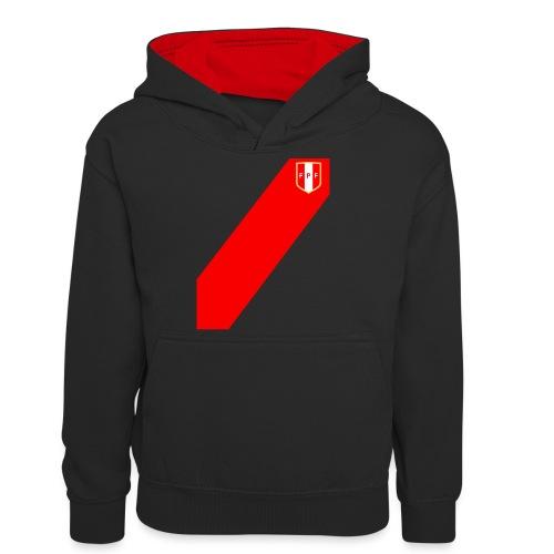 Seleccion peruana de futbol - Teenager Contrast Hoodie