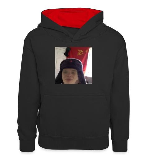 Kommunisti Saska - Teinien kontrastivärinen huppari