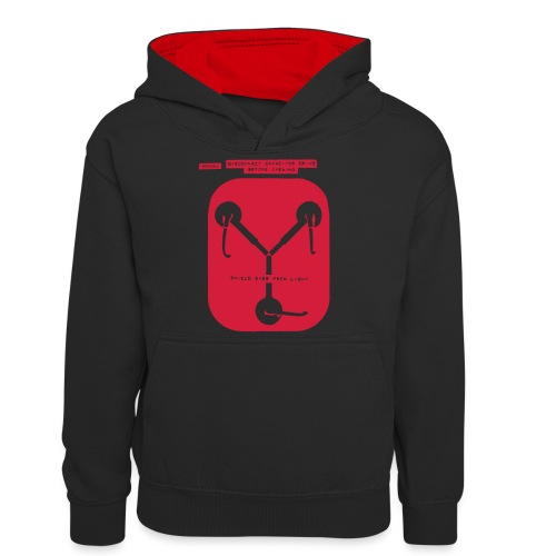 Back To The Future DeLorean Flux Capacitor - Teenager Contrast Hoodie