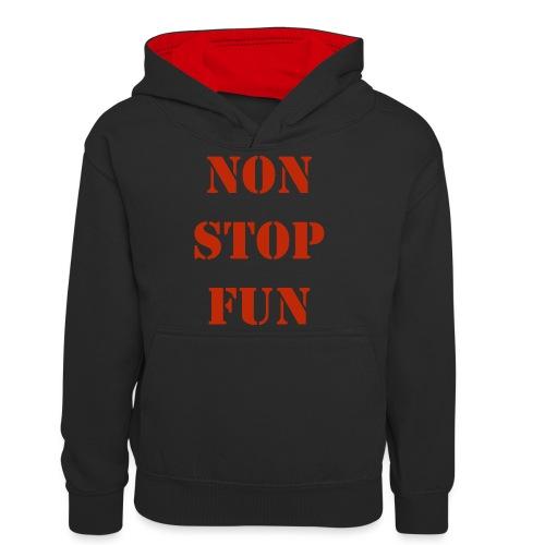non stop fun - Teenager Kontrast-Hoodie