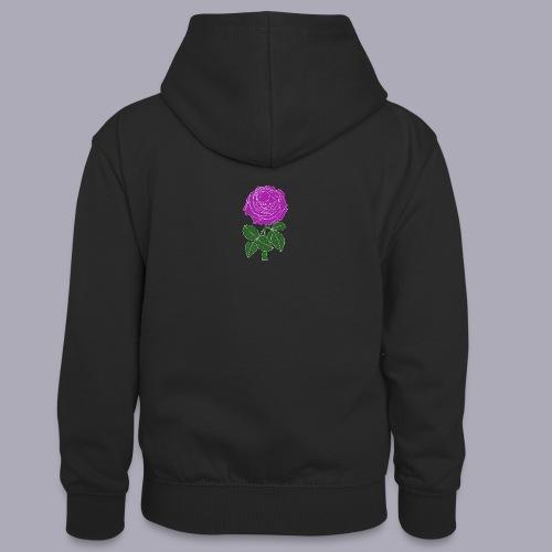 Landryn Design - Pink rose - Teenager Contrast Hoodie