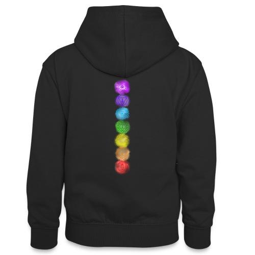 linea chakra - Felpa con cappuccio in contrasto cromatico per ragazzi