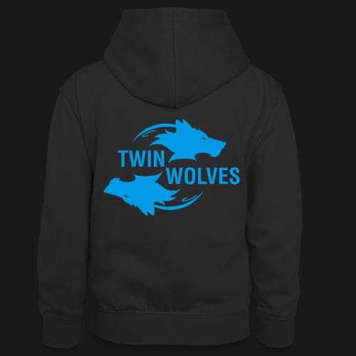 Twin Wolves Studio - Felpa con cappuccio in contrasto cromatico per ragazzi