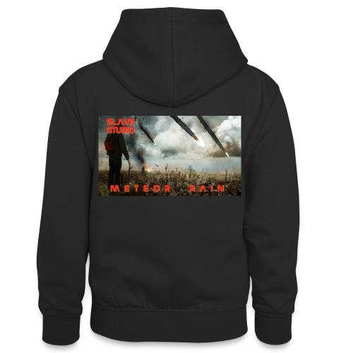 Meteor rain - Felpa con cappuccio in contrasto cromatico per ragazzi