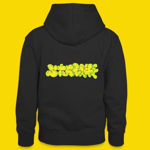 Strange Graffiti - Młodzieżowa bluza z kontrastowym kapturem