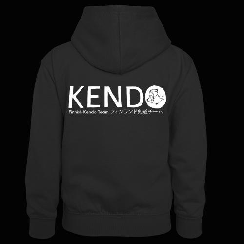Finnish Kendo Team Text - Teinien kontrastivärinen huppari