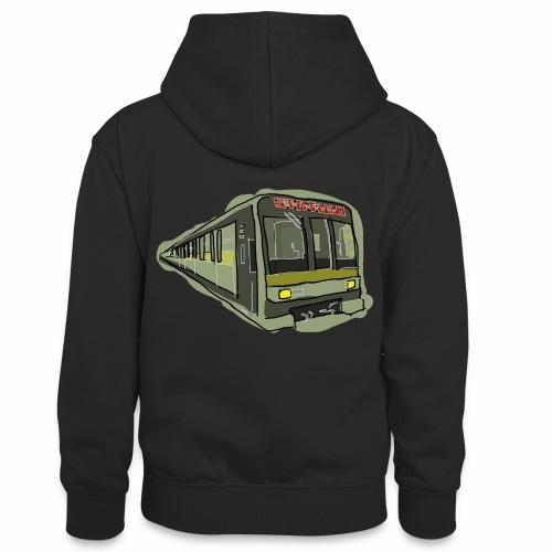 Urban convoy - Felpa con cappuccio in contrasto cromatico per ragazzi