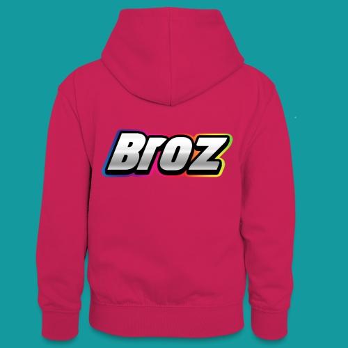 Broz - Teenager contrast-hoodie