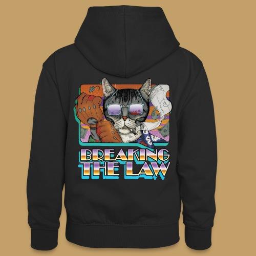 Crime Cat in Shades - Braking the Law - Młodzieżowa bluza z kontrastowym kapturem