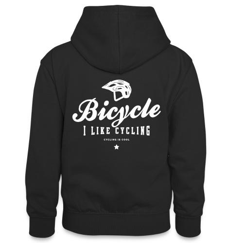 bicycle - Młodzieżowa bluza z kontrastowym kapturem