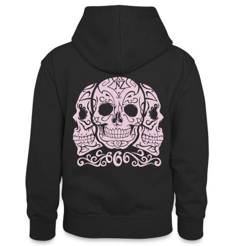 Skull Dia de los muertos - Sweat à capuche contrasté Ado