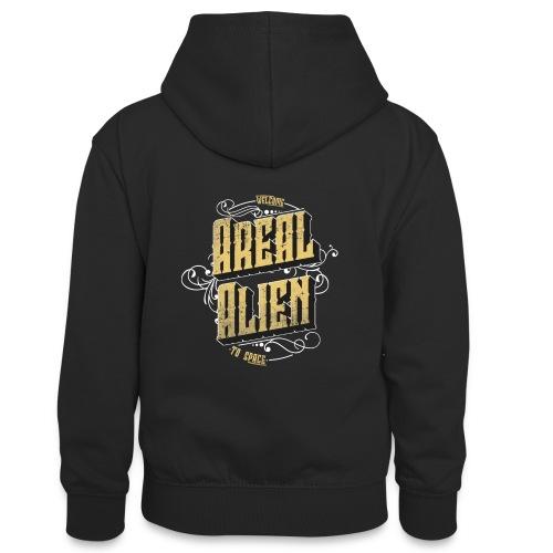 Areal Alien Vintage logo - Kontrast-hettegenser for tenåringer