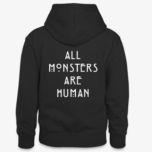 All Monsters Are Human - Sweat à capuche contrasté Ado