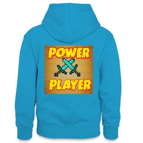 NUOVA LINEA POWER PLAYER - Felpa con cappuccio in contrasto cromatico per ragazzi