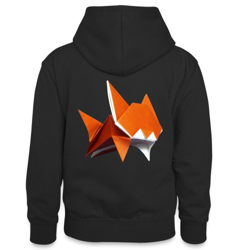 Jumping Cat Origami - Cat - Gato - Katze - Gatto - Teenager Contrast Hoodie