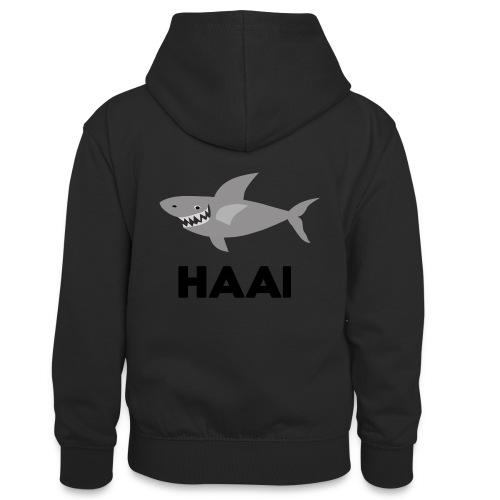 haai hallo hoi - Teenager contrast-hoodie