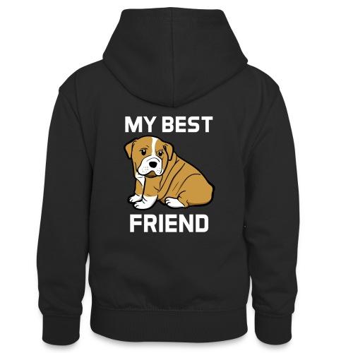 My Best Friend - Hundewelpen Spruch - Teenager Kontrast-Hoodie