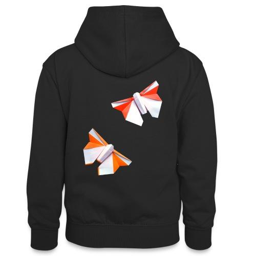 Butterflies Origami - Butterflies - Mariposas - Teenager Contrast Hoodie
