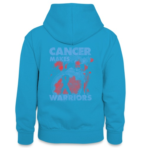 cancer makes warriors - Teenager Contrast Hoodie