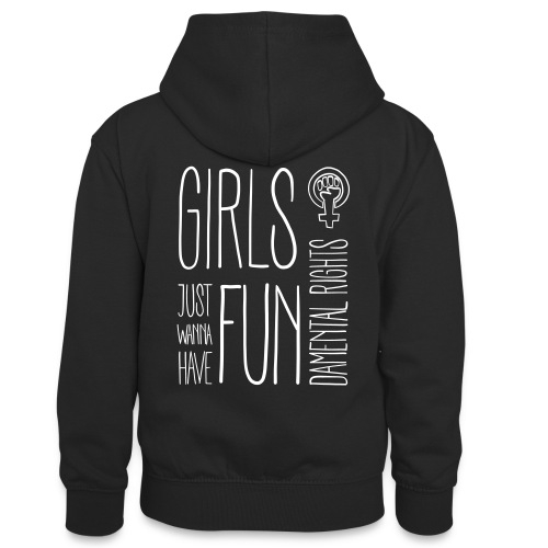 Girls just wanna have fundamental rights - Teenager Kontrast-Hoodie