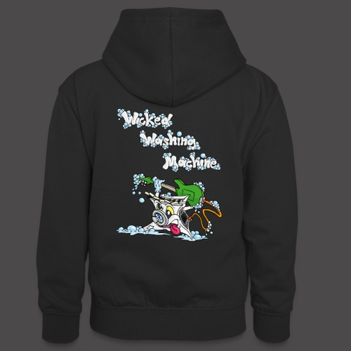 Wicked Washing Machine Cartoon and Logo - Teenager contrast-hoodie
