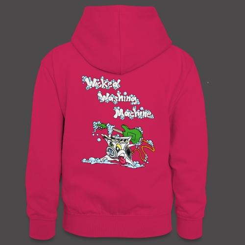 Wicked Washing Machine Cartoon and Logo - Teenager contrast-hoodie
