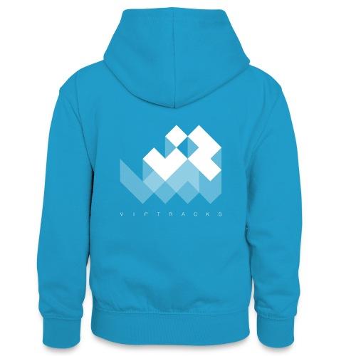 LOGO VIPTRACKS RELEASES - Teenager contrast-hoodie