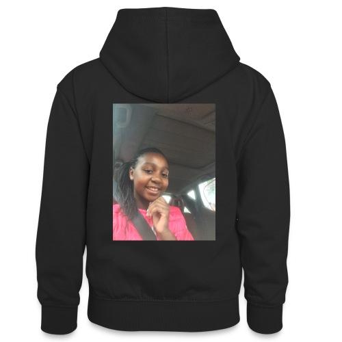 tee shirt personnalser par moi LeaFashonIndustri - Sweat à capuche contrasté Ado