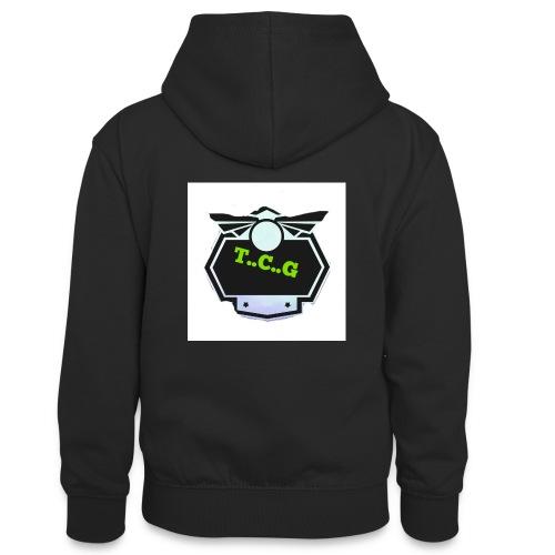 Cool gamer logo - Teenager Contrast Hoodie