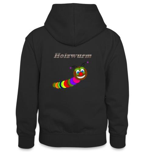 Holzwurm Design - Teenager Kontrast-Hoodie