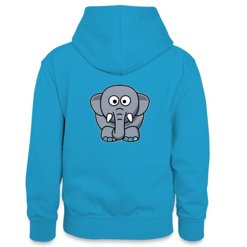 Olifantje - Teenager contrast-hoodie