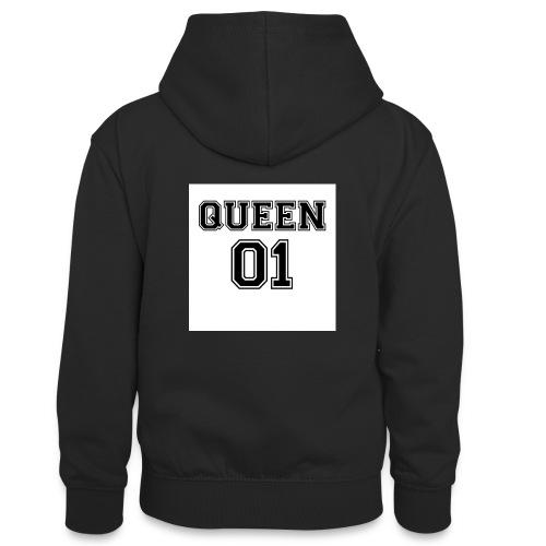 Queen 01 - Sweat à capuche contrasté Ado