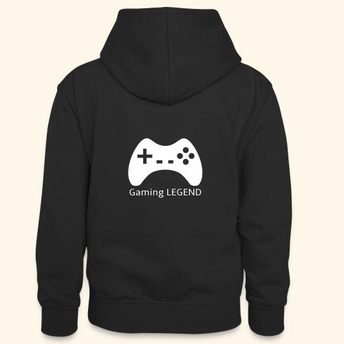 Gaming LEGEND - Teenager contrast-hoodie