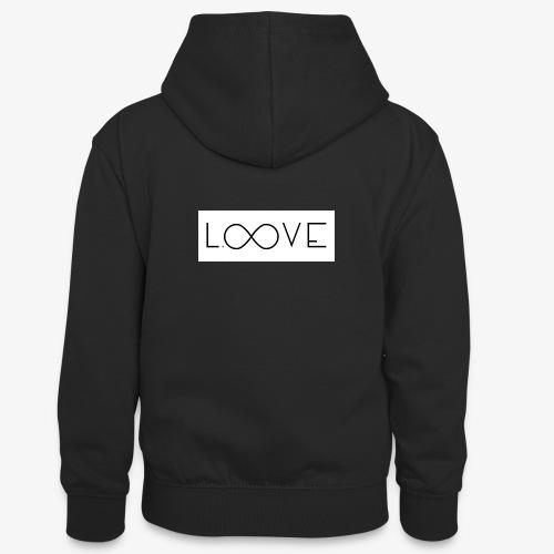 LOOVE Box Logo (SS18) - Felpa con cappuccio in contrasto cromatico per ragazzi