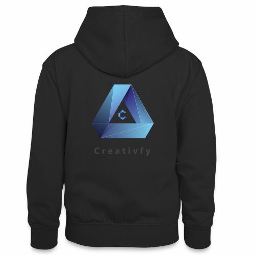 creativfy - Teenager Kontrast-Hoodie