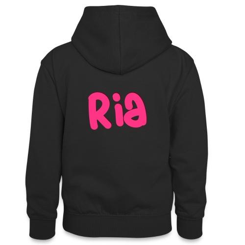 Ria Roo 3D - Teenager Contrast Hoodie