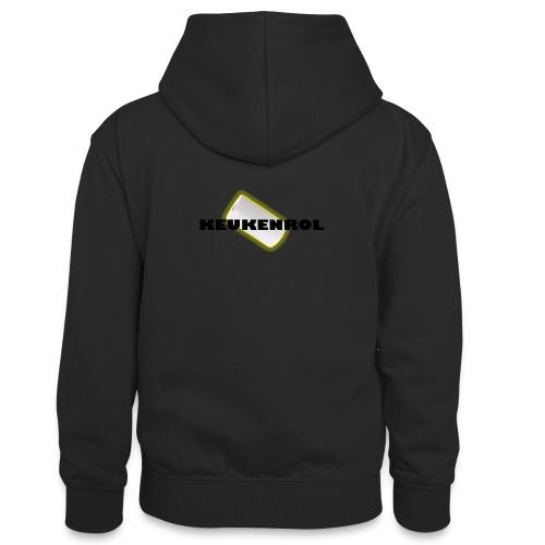 Keukenrol - Teenager contrast-hoodie