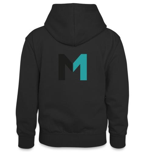Logo M - Teenager Kontrast-Hoodie
