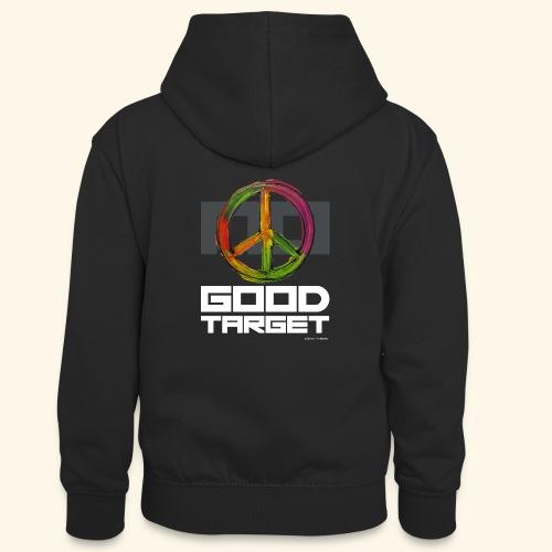 NO - GOOD TARGET is PEACE - Teenager contrast-hoodie