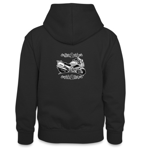 0964 live 2 ride ride 2 live - Teenager contrast-hoodie