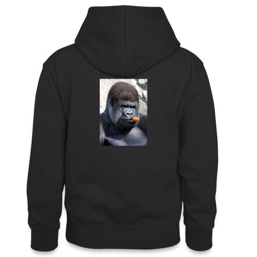 singe - Sweat à capuche contrasté Ado