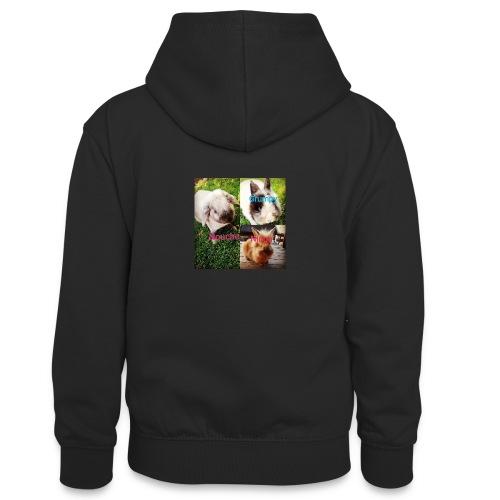 Mygoodanimallife - Teenager contrast-hoodie