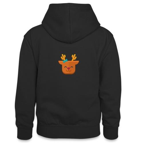 When Deers Smile by EmilyLife® - Teenager Contrast Hoodie