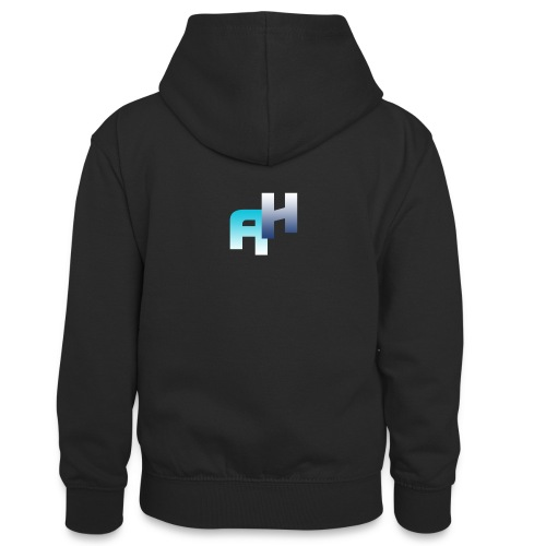 Logo-1 - Felpa con cappuccio in contrasto cromatico per ragazzi