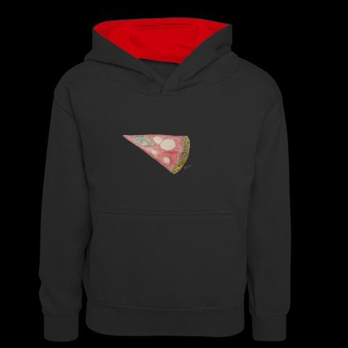 BY TAiTO Pizza Slice - Teinien kontrastivärinen huppari
