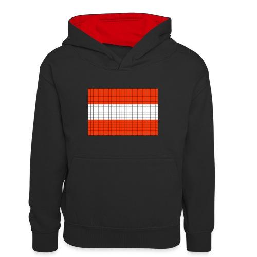 austrian flag - Felpa con cappuccio in contrasto cromatico per ragazzi